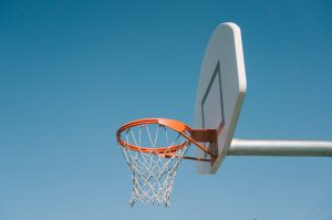 Foto van basketbal doel om je doelen te bereiken