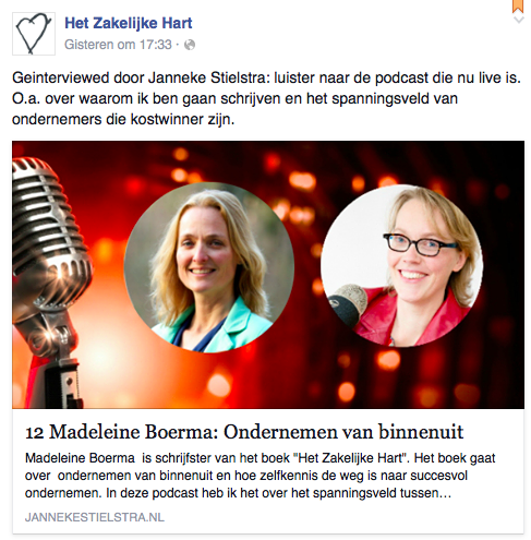 Plaatje van aankondiging van Podcast interview tussen Janneke Stielstra en Madeleine Boerma