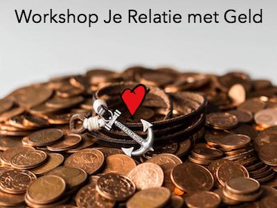 Foto van stapel munten met een anker erin voor de Workshop Je Relatie met Geld